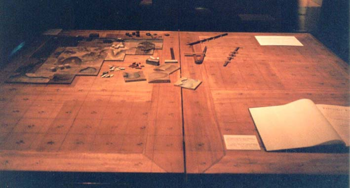 The table from origins of Kriegsspiel